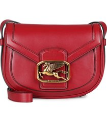 etro pegaso leather crossbody bag
