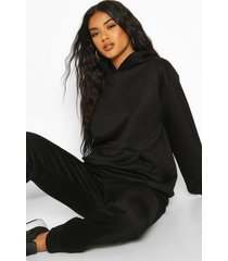 basic oversized hoodie, zwart