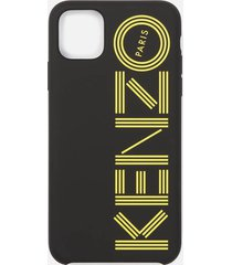 kenzo men's logo iphone 11 max case - black/yellow