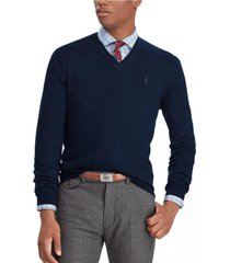 sweater slim washable merino azul polo ralph lauren