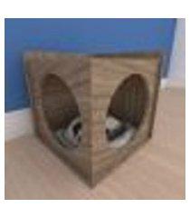 mesa de cabeceira caminha simples pequeno gato em mdf amadeirado