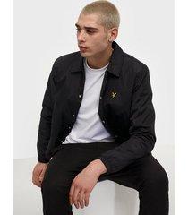 lyle & scott coach jacket jackor jet black