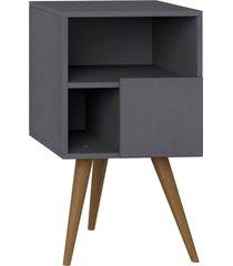 mesa de cabeceira com porta expresso be mobiliã¡rio cinza - cinza - dafiti