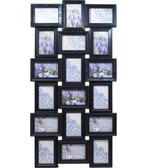porta retrato minas de presentes 18 fotos 10x15cm preto