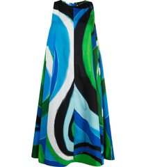 gianluca capannolo abstract print swing dress - blue