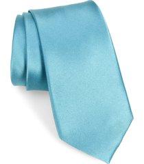 men's nordstrom solid silk tie, size regular - blue