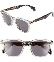 men's rag & bone 50mm sunglasses - grey