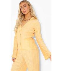 plisse blouse met klokmouwen, pale orange