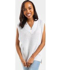 cameron sweater tank top - white