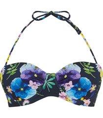 bikinitop met gedroogde bloemenprint