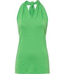 top in jersey con scollo all''americana (verde) - bodyflirt