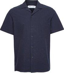 einar sx shirt 11389 kortärmad skjorta blå samsøe samsøe