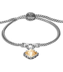 women's john hardy classic chain sugarloaf hammered 18k gold pendant bracelet