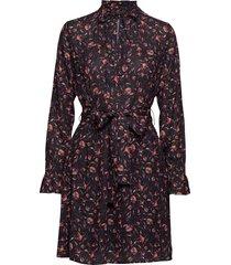 washes jurk knielengte zwart fall winter spring summer