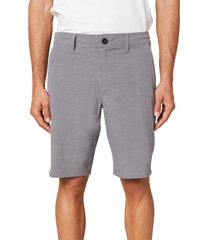 men's o'neill locked slub board shorts, size 38 - grey