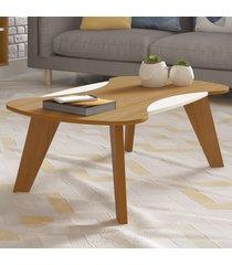 mesa de centro nicole freijó/off white - artely