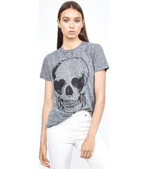 capri heart eye skull - xs heather grey burnout