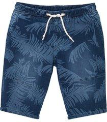 bermuda in felpa effetto jeans regular fit (blu) - rainbow