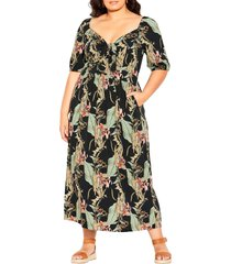 city chic royal palm maxi dress, size small at nordstrom