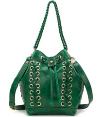patricia nash martina leather drawstring bag