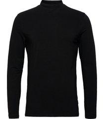 theo ls turtle neck t-shirt t-shirts turtlenecks svart casual friday