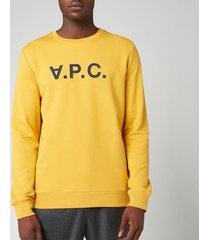 a.p.c. men's vpc sweatshirt - yellow - l
