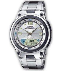 reloj aw-82d-7a casio plateado