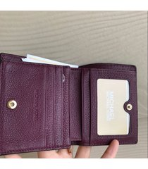 michael kors mk bedford carry all card case wallet plum nwt $88