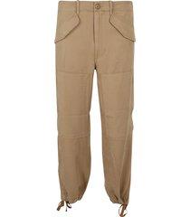 beige lyocell trousers