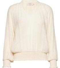 alicecr blouse blus långärmad creme cream