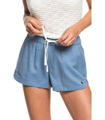women's roxy new impossible love shorts, size small - blue