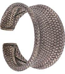 a.n.g.e.l.o. vintage cult 2000s textured bracelet - silver