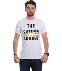camiseta javali branca future - kanui