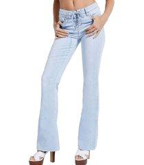 jeans azalea 1981 flare denim guess