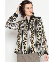 blusa animal print operate feminina - feminino