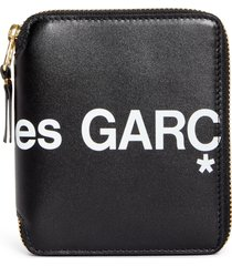 comme des garcons huge logo zip around wallet -