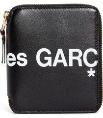comme des garcons huge logo zip around wallet -