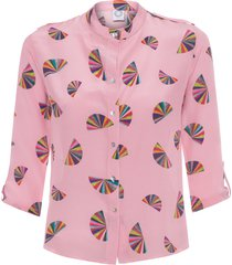camisa feminina leque - rosa