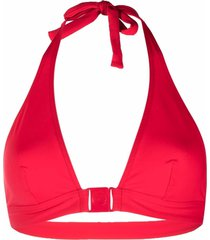 eres boum triangle-halterneck bikini top - red