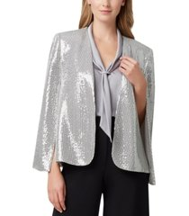 tahari asl shiny cape jacket
