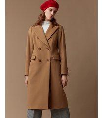 płaszcz dwurzędowy włoska wełna