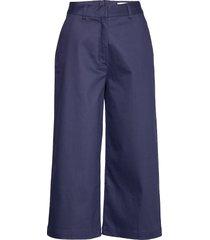 gaia trousers wijde broek blauw makia
