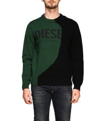 diesel sweater diesel crew neck pullover with maxi logo