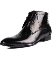 handmade mens derby black ankle high boots, mens lace-up dress leather boots