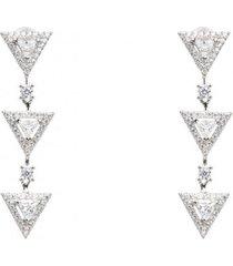 kolczyki 3 mini triangles