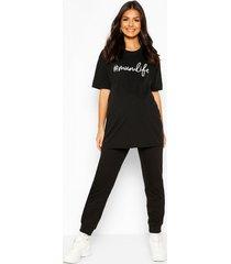 zwangerschap #mumlife t-shirt, zwart