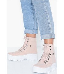 nly shoes true love sneaker boot flat boots dusty pink