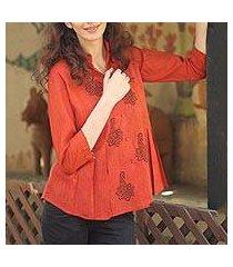 cotton tunic, 'jaipur summer' (india)