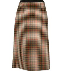prada checked midi skirt