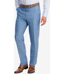 bar iii men's slim-fit blue chambray suit pants, created for macy's